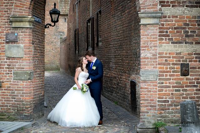 trouwen Zutphen Drogenapsteeg bruidspaar sfeer Pascale Drent fotografie